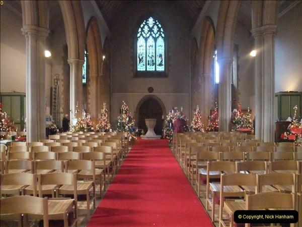 2012-12-21 (45) St.  Aldhelm's Church  Xmas Trees Display,  Branksome, Poole, Dorset.