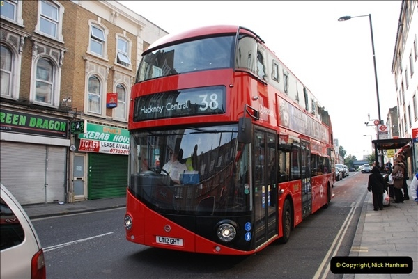 2012-10-07 Ride on LT12 GHT Borismaster. Route 38 Victoria to Hackney Central.  (73)78