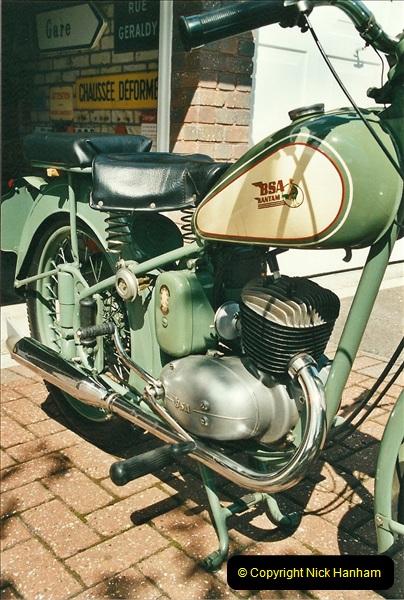 2002-05-23 A BSA Bantam 125 joins the collection.  (10)096