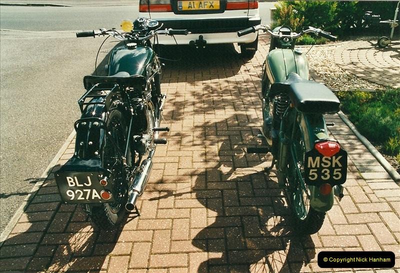 2002-05-23 A BSA Bantam 125 joins the collection.  (12)098