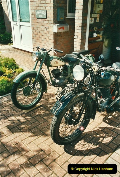2002-05-23 A BSA Bantam 125 joins the collection.  (15)101
