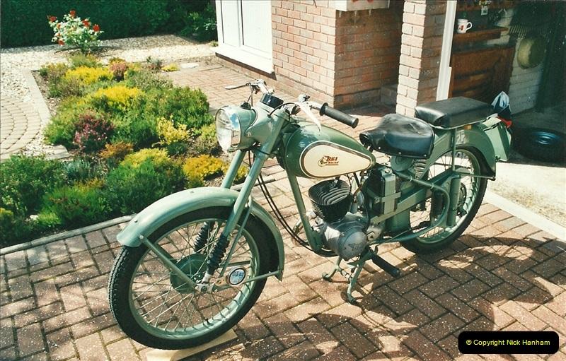 2002-05-23 A BSA Bantam 125 joins the collection.  (5)091