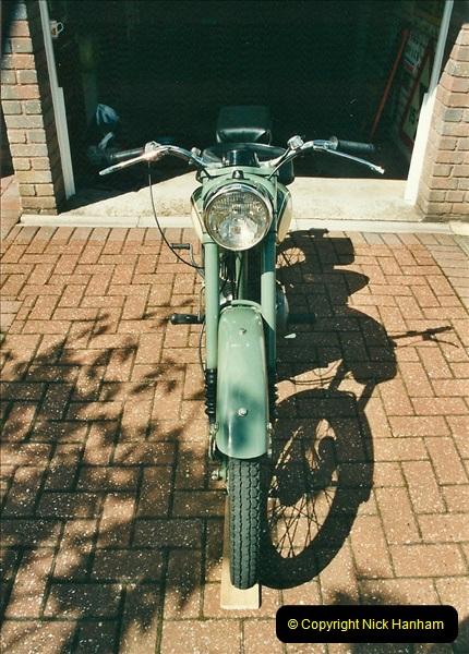 2002-05-23 A BSA Bantam 125 joins the collection.  (6)092
