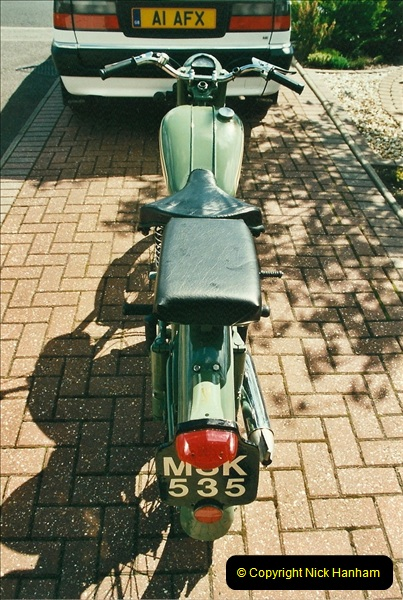2002-05-23 A BSA Bantam 125 joins the collection.  (8)094
