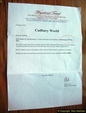 Cadbury World 20 May 2015