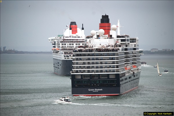 2015-05-03 Three Queens leave Southampton. (107)107