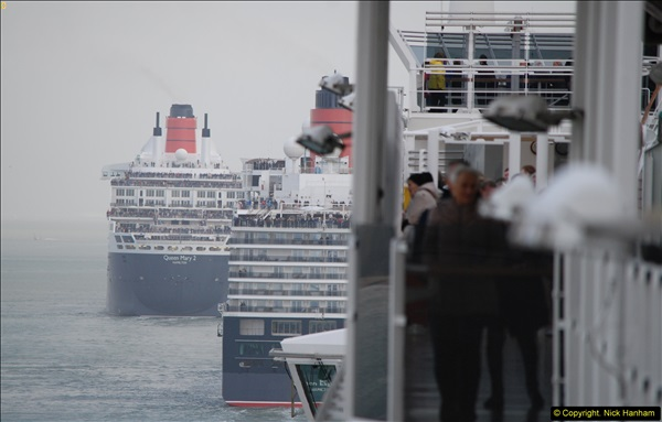 2015-05-03 Three Queens leave Southampton. (126)126