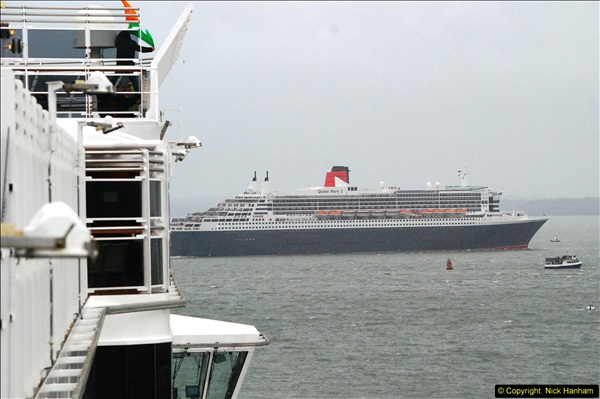 2015-05-03 Three Queens leave Southampton. (143)143