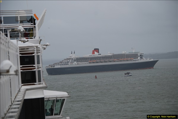2015-05-03 Three Queens leave Southampton. (144)144