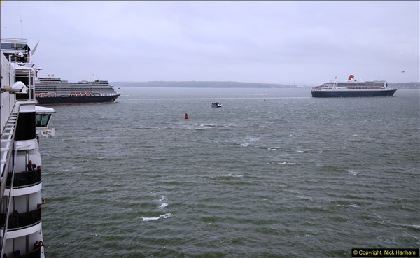 2015-05-03 Three Queens leave Southampton. (148)148