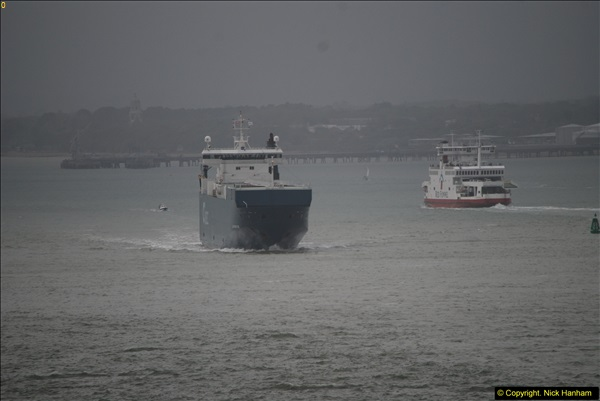 2015-05-03 Three Queens leave Southampton. (154)154
