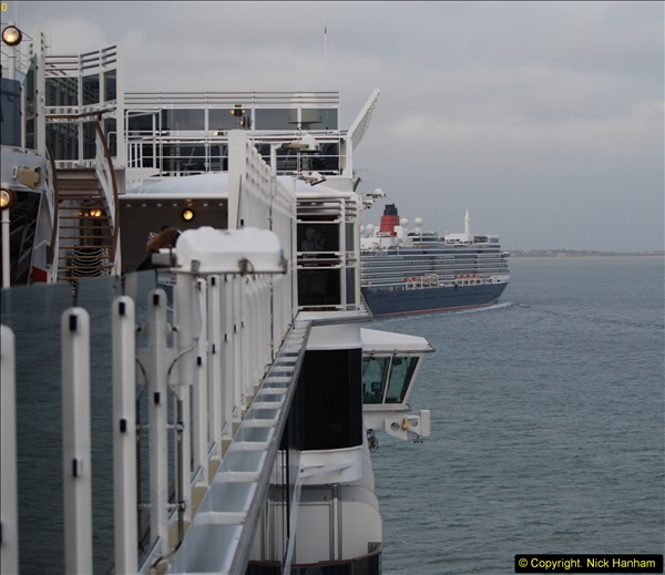 2015-05-03 Three Queens leave Southampton. (180)180