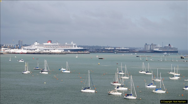 2015-05-03 Three Queens leave Southampton. (85)085