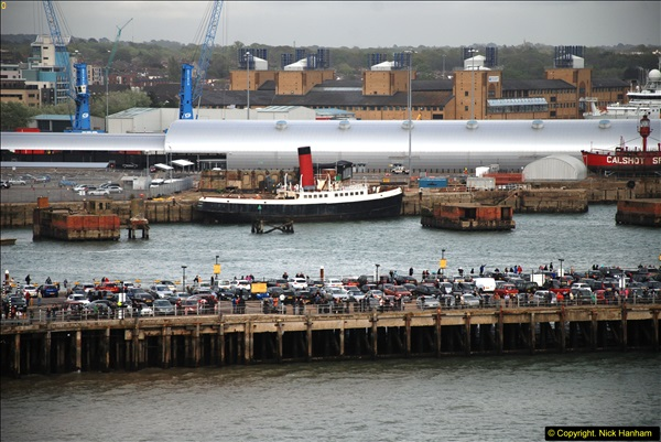 2015-05-03 Three Queens leave Southampton. (96)096