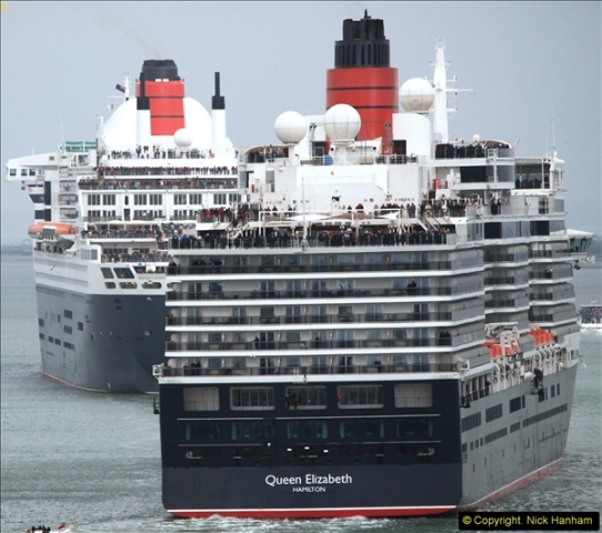 2015-05-03 Three Queens leave Southampton. (108)108