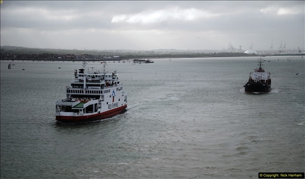 2015-05-03 Three Queens leave Southampton. (128)128