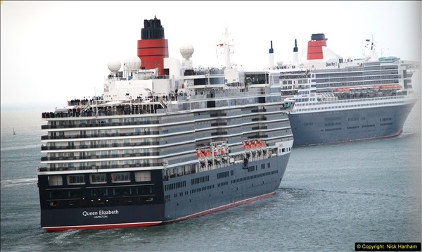2015-05-03 Three Queens leave Southampton. (135)135