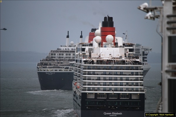 2015-05-03 Three Queens leave Southampton. (142)142