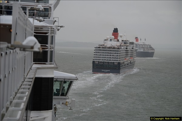 2015-05-03 Three Queens leave Southampton. (158)158