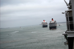 2015-05-03 Three Queens leave Southampton. (112)112