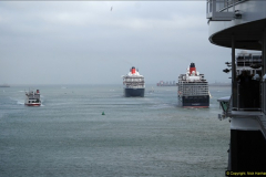 2015-05-03 Three Queens leave Southampton. (119)119