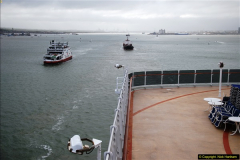 2015-05-03 Three Queens leave Southampton. (130)130