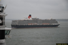 2015-05-03 Three Queens leave Southampton. (149)149