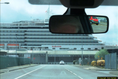 2015-05-03 Three Queens leave Southampton. (15)015