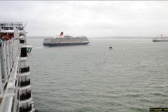 2015-05-03 Three Queens leave Southampton. (151)151