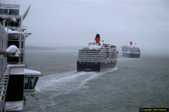 2015-05-03 Three Queens leave Southampton. (157)157