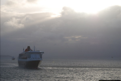 2015-05-03 Three Queens leave Southampton. (201)201