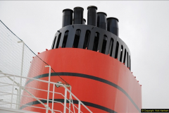 2015-05-03 Three Queens leave Southampton. (46)046