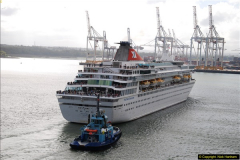 2015-05-03 Three Queens leave Southampton. (72)072
