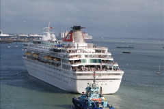 2015-05-03 Three Queens leave Southampton. (81)081