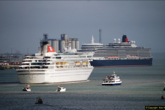 2015-05-03 Three Queens leave Southampton. (82)082