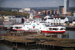 2015-05-03 Three Queens leave Southampton. (95)095