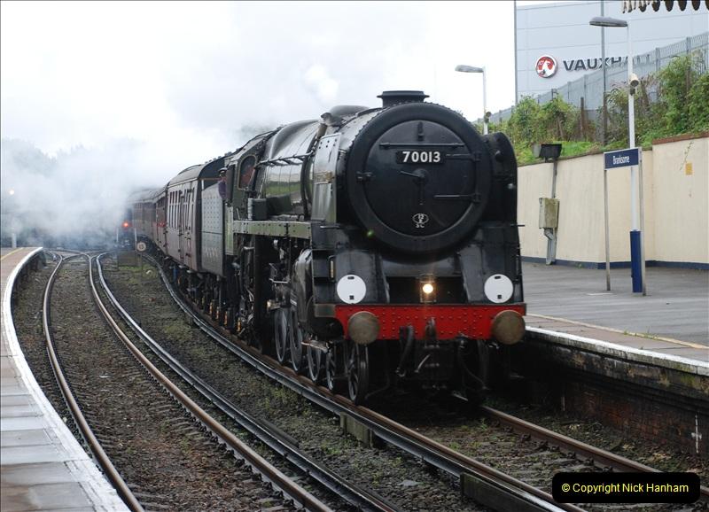 2011-09-06 70013 Oliver Cromwell @ Branksome, Poole, Dorset. (12)112