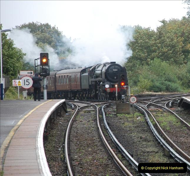 2011-09-06 70013 Oliver Cromwell @ Branksome, Poole, Dorset. (7)107