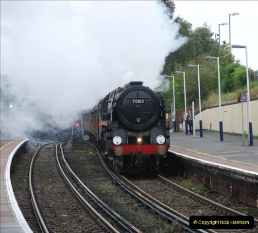2011-09-06 70013 Oliver Cromwell @ Branksome, Poole, Dorset. (10)110