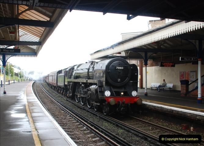 2011-09-06 70013 Oliver Cromwell @ Branksome, Poole, Dorset. (13)113