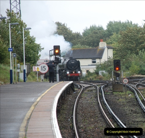 2011-09-06 70013 Oliver Cromwell @ Branksome, Poole, Dorset. (5)105
