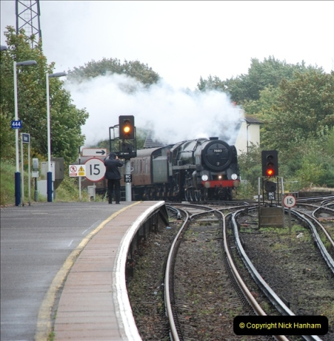 2011-09-06 70013 Oliver Cromwell @ Branksome, Poole, Dorset. (6)106