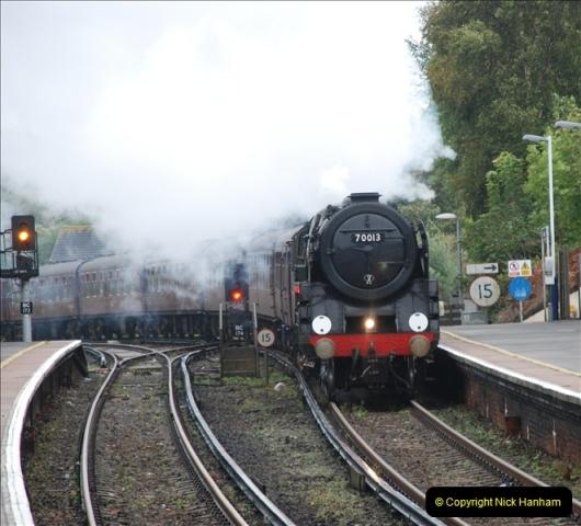 2011-09-06 70013 Oliver Cromwell @ Branksome, Poole, Dorset. (8)108