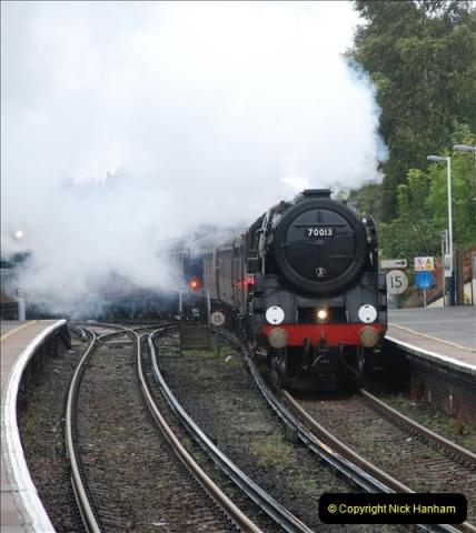 2011-09-06 70013 Oliver Cromwell @ Branksome, Poole, Dorset. (9)109