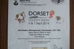 Dorset County Show 06 September 2014