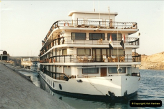 1995-07-17 Our Tour ship MS Eugenie @ Aswan (On the Lake Nasser side of the High Dam)001