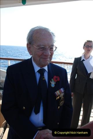 2010-11-04 HMS Welshman Tribute. Torpedoed 01-02-1943 off Tobruk by U617  (12)013