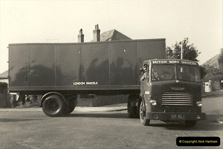 1958 (11) My late Stepfather and BRS Leyland Comet artic box van.016