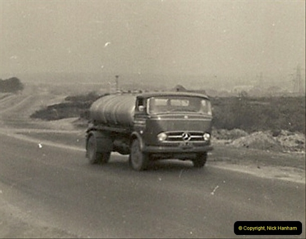 1958 (9) Mercedes tanker of the Upton Oil Co. in Old Wareham Road, Poole, Dorset.014