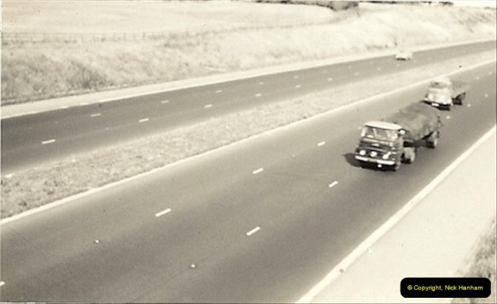 1960 (1) The, then new, M1 Motorway. Very crowded !023